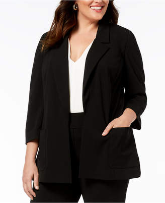Nine West Plus Size Notch-Collar Jacket