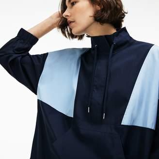 Lacoste Women's LIVE Colorblock Cotton Poplin Sweatshirt Dress
