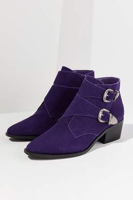 Urban Outfitters Talia Suede Buckle Ankle Boot