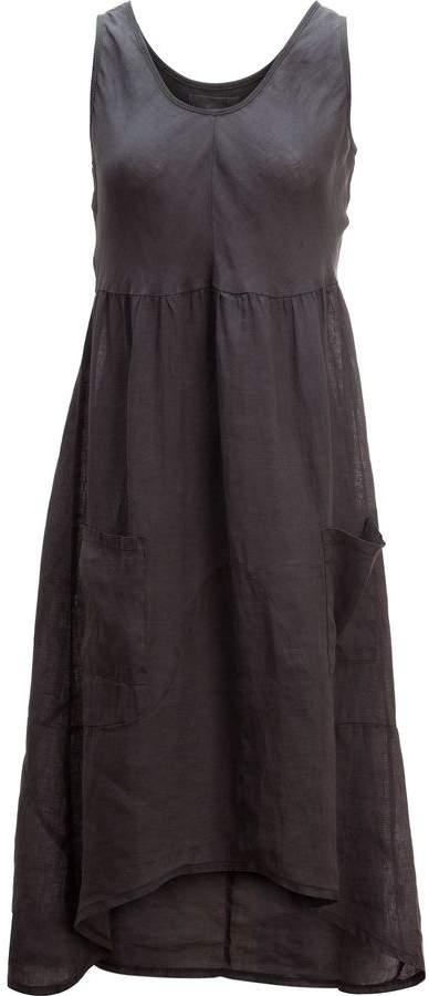 Dylan Rib Knit & Linen Tank Dress - Women's
