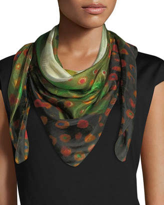 Mila Louise & Such Do Not Vine Square Silk Scarf, 100cm