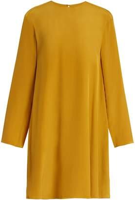 Raey Displaced-sleeve silk trapeze dress