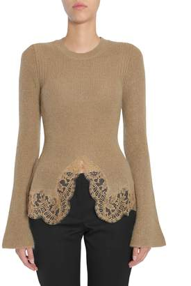 Givenchy Sweater With Lace Insert