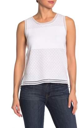 BCBGeneration Sleeveless Cotton Sweater Top