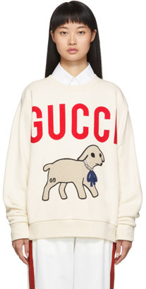Gucci Off-White Oversized Lamb Sweatshirt