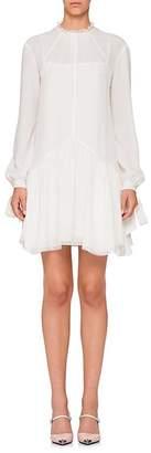 Prada Women's Lace-Trimmed Silk Dress