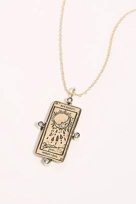 Sofia Zakia The Moon Tarot Card Necklace