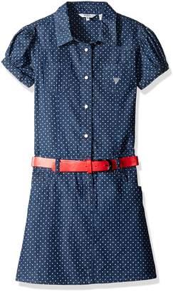 GUESS Big Girls' Print Cotton Denim Dress