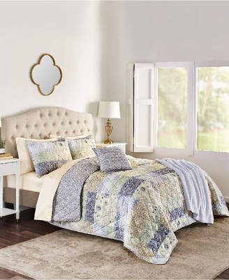Sunham Josie 5-Pc. Reversible King Quilt Set Bedding