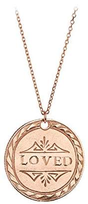 Laura Lee Jewellery Women's 9ct Rose Gold The Love Token Necklace of Length 45.5cm