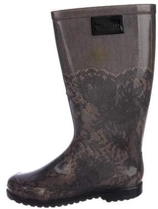 Valentino Rubber Rain Boots