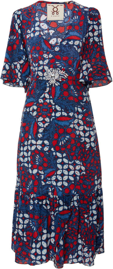 Figue Nadine belted silk dress