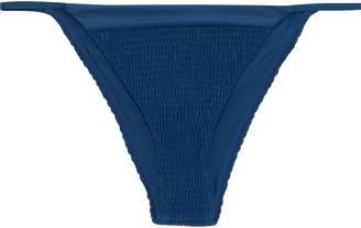 Tori Praver Swimwear Lacie Smocked Low-rise Bikini Briefs