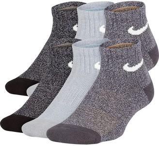 Nike Boys 4-20 6-Pack Training Quarter Socks