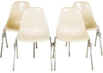 Herman Miller Set of 4 Eames Fiberglass Chairs