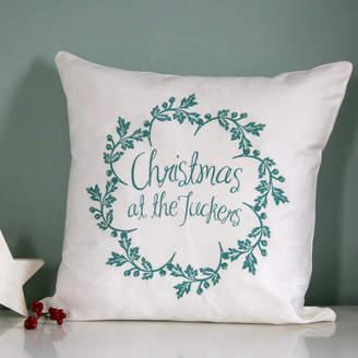 Modo creative Personalised Christmas Family Name Cushion