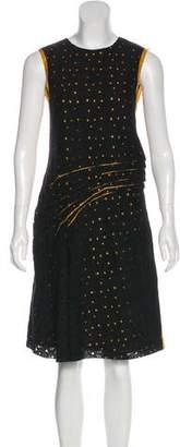 Bottega Veneta Silk & Wool Midi Dress