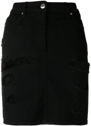 Love Moschino distressed lace detail skirt