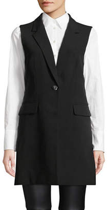 Donna Karan Single-Button Long Vest