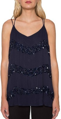 Women's Willow & Clay Embellished Stripe Tank $99 thestylecure.com