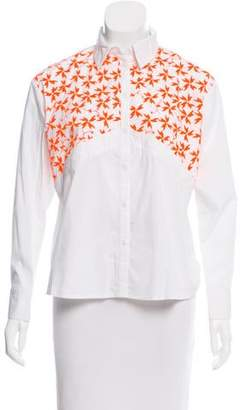 Tanya Taylor Embroidered Ryan Top
