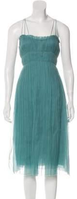 Akris Pleated Midi Dress w/ Tags Blue Pleated Midi Dress w/ Tags