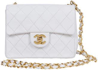 One Kings Lane Vintage Chanel White Cross Body Mini Flap