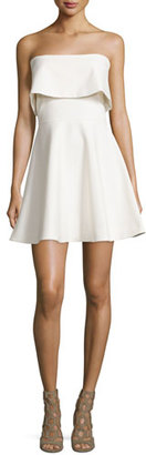 Elizabeth and James Melidna Strapless Popover Dress, Ivory $365 thestylecure.com