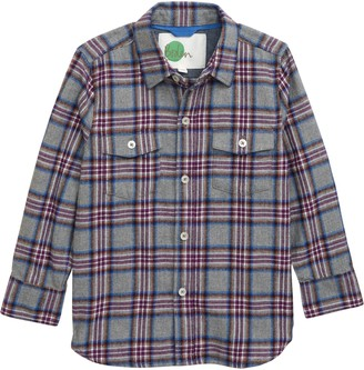 Boden Mini Brushed Check Button-Up Shirt
