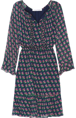 Diane von Furstenberg - Simonia Printed Silk-chiffon Dress - Navy $468 thestylecure.com
