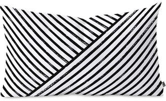 Deny Designs Kelly Haines Geometric Stripe Pattern Oblong Throw Pillow