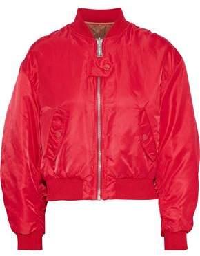 Maje + Schott Brooklyn Reversible Shell Bomber Jacket
