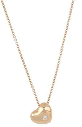 Bony Levy 18K Rose Gold Diamond Accent Heart Pendant Necklace