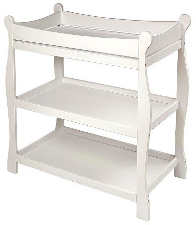 Badger Basket Badger Basket Sleigh Style Changing Table - White Finish