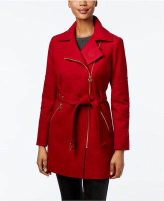 MICHAEL Michael Kors Asymmetrical-Zip Walker Coat $275 thestylecure.com
