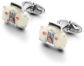 Aspinal of London Sterling Silver & Enamel Rolls Royce Cufflinks