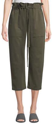 Current/Elliott Tabloid Cropped Paperbag Pants