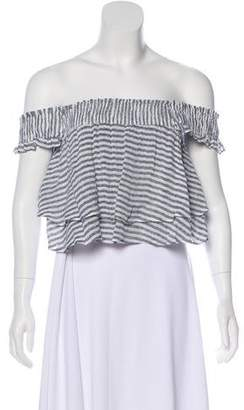 Apiece Apart Striped Crop Top