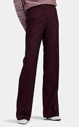 Barneys New York Women's Diamond-Jacquard Wool Straight Trousers - Wine