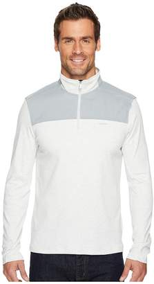 Calvin Klein Mixed Media 1/4 Zip Pullover Men's Clothing
