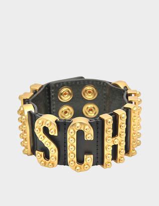 Moschino Lettering studded bracelet