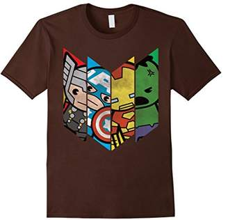 Marvel The Avengers Kawaii Chevron Graphic T-Shirt