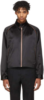 Maison Margiela Black Satin Contrast Piping Jacket