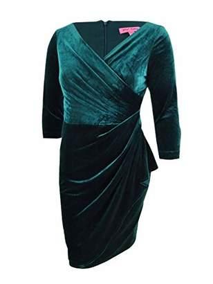 Betsey Johnson Women's Velvet Wrap Dress
