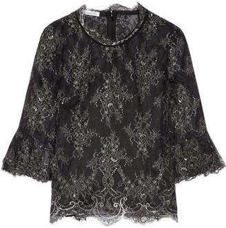 Oscar de la Renta - Chantilly Lace Top - Black $1,990 thestylecure.com
