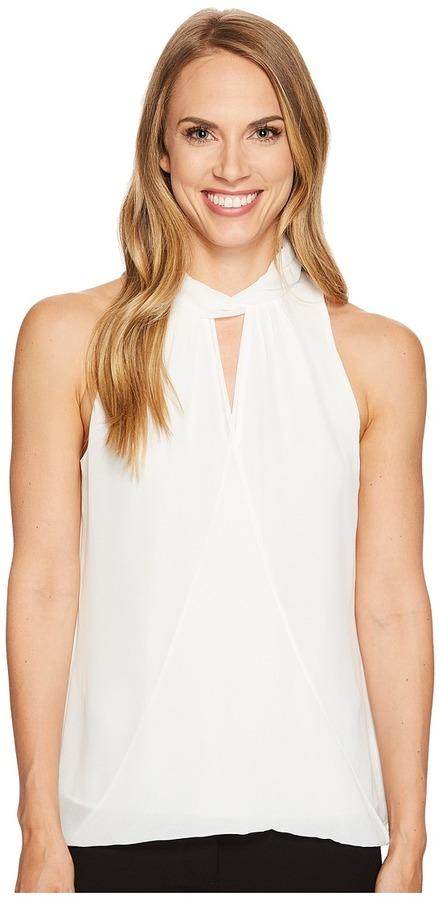 Calvin Klein - Sleeveless Wrap Halter Top Women's Clothing