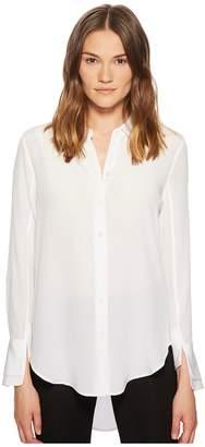 Equipment Split Cuff Essential Long Sleeve Shirt Women's Long Sleeve Button Up