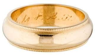 Ring 14K 5mm Milgrain Wedding Band