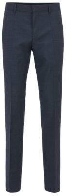 BOSS Hugo Basketweave Wool Dress Pant, Slim Fit Genesis 36R Dark Blue