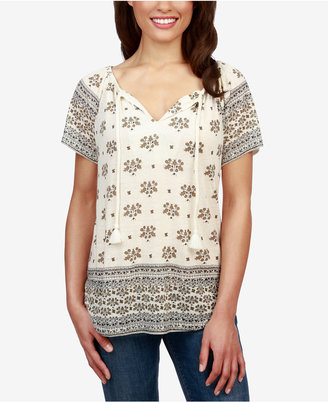 Lucky Brand Printed Peasant Top $49.50 thestylecure.com